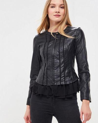 Кожаная куртка черная весенняя Colin's