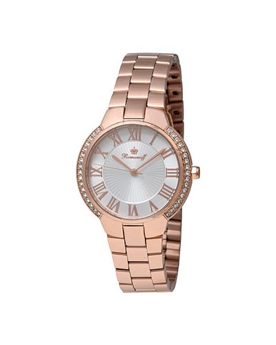 Кварцевые часы с позолотой с круглым циферблатом Romanoff