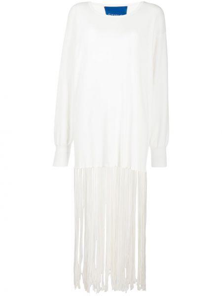 Sukienka midi bawełniana - biała Simon Miller