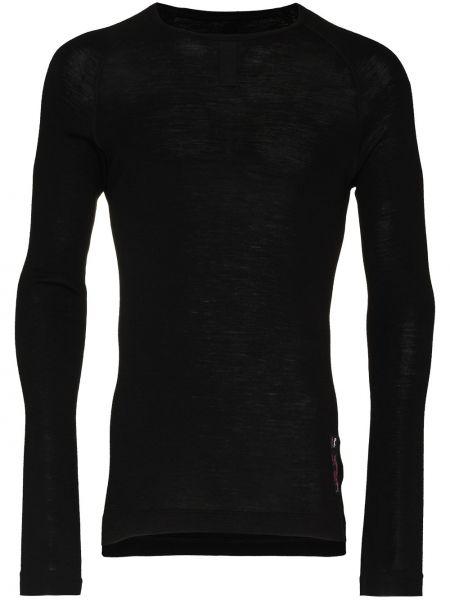 Czarny top z długimi rękawami wełniany Rapha