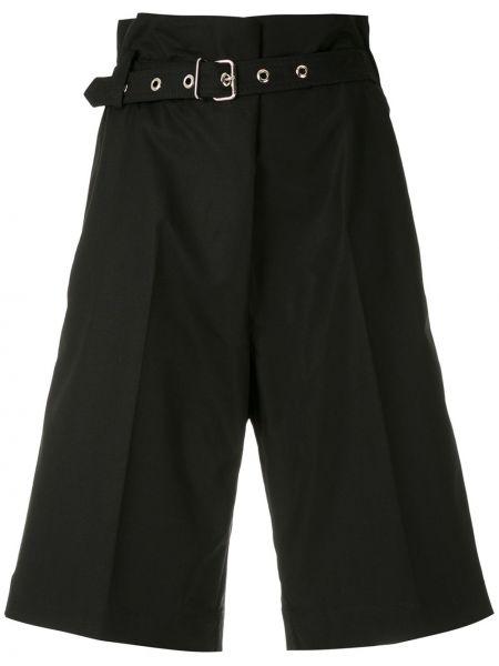 Черные с завышенной талией шорты с карманами Reinaldo Lourenço