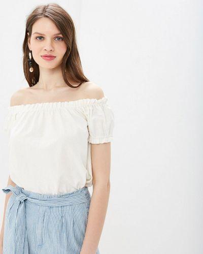 Блузка с открытыми плечами белый Vero Moda