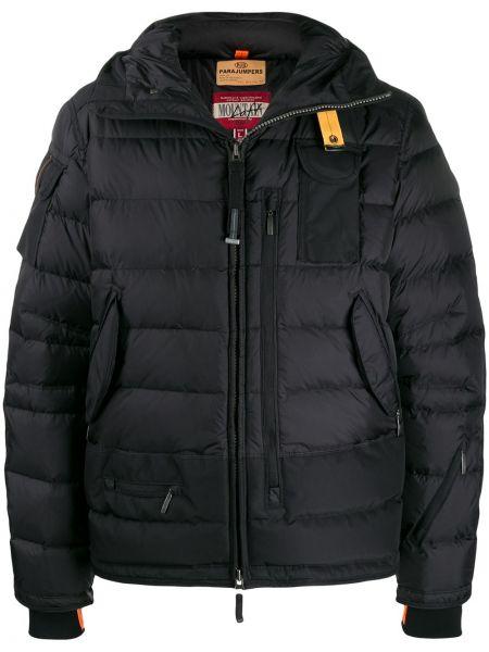 Długa kurtka z kapturem czarna Parajumpers