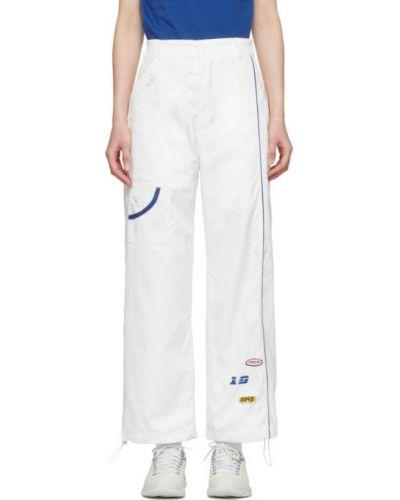 Niebieskie spodnie z paskiem z siateczką Ader Error