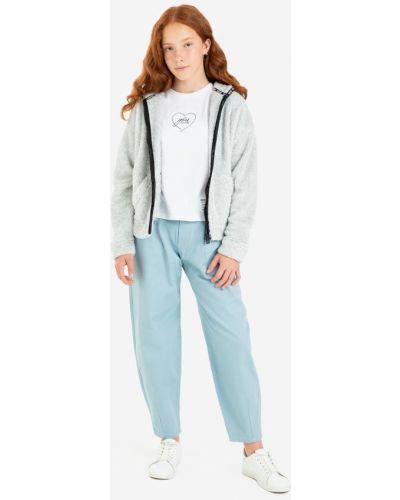 Джинсовая куртка с мехом - серая Gloria Jeans