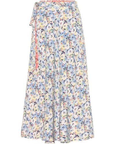 Юбка миди с запахом с цветочным принтом Polo Ralph Lauren