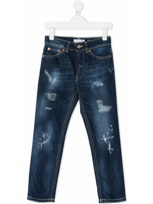 Классические прямые синие прямые джинсы с карманами Dondup Kids