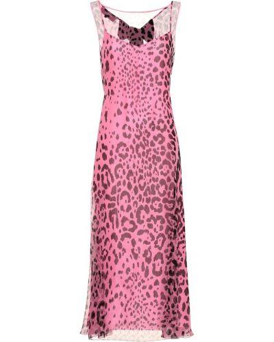 Платье миди шифоновое шелковое Rochas