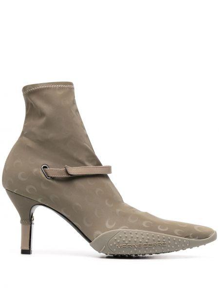 Серые кожаные носки на каблуке Marine Serre