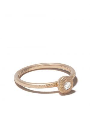 Кольцо круглое с бриллиантом золотое De Beers