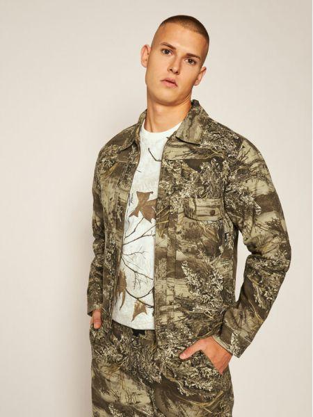 Zielona kurtka jeansowa Huf