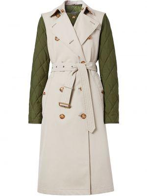 Стеганое пальто двубортное без рукавов Burberry