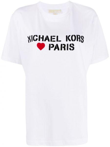 Топ с леопардовым принтом свободный Michael Kors Collection