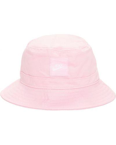 Różowy kapelusz bawełniany Nike