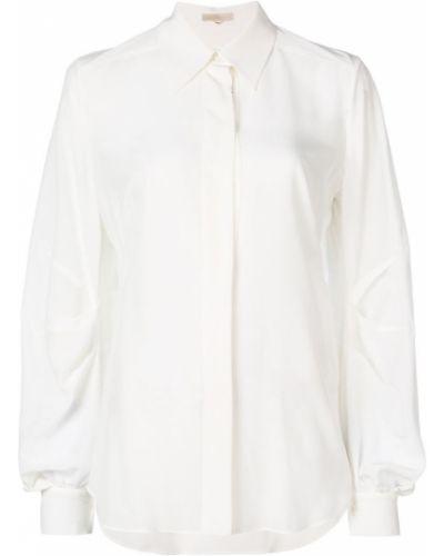 Рубашка белая с драпировкой Mantu