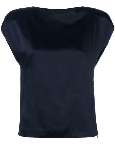 Приталенная блузка - синяя Chalayan