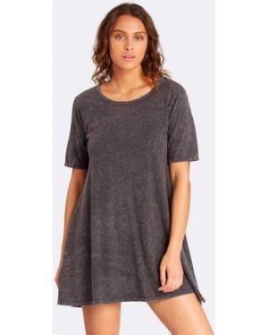 Теплое платье с открытой спиной с вырезом Billabong