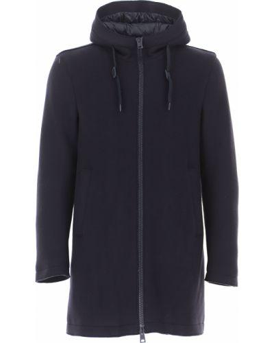 Bawełna zimowy płaszcz z kieszeniami od płaszcza przeciwdeszczowego z długimi rękawami Herno