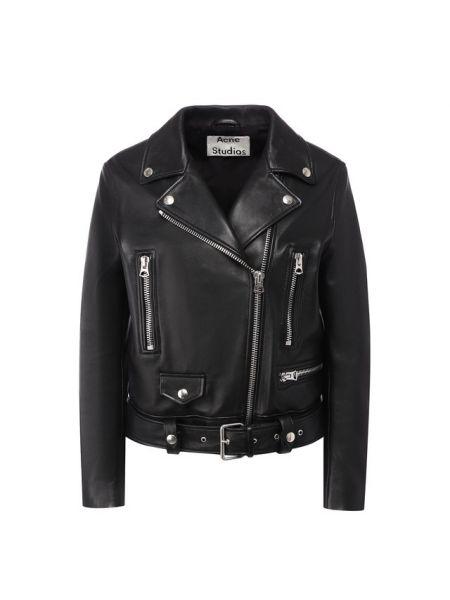 Кожаная куртка черная джинсовая Acne Studios