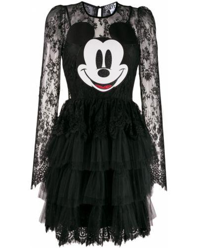 Платье макси с кружевными рукавами с оборками Aniye By