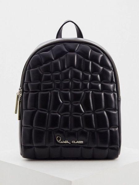 Рюкзак черный из искусственной кожи Cavalli Class