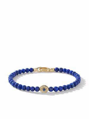 Niebieska złota bransoletka David Yurman