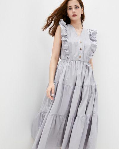 Серое прямое платье Mankato