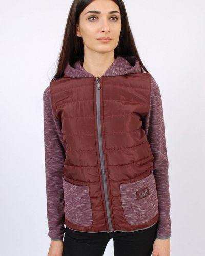 Спортивная куртка осенняя бордовый Sab