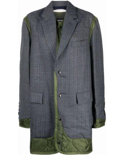 Синее пальто из полиэстера Junya Watanabe
