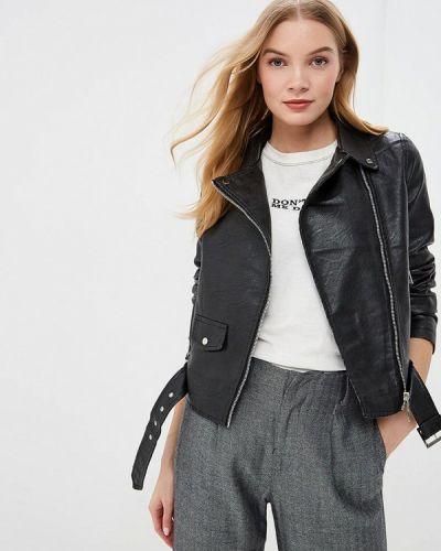 Кожаная куртка черная весенняя Macleria