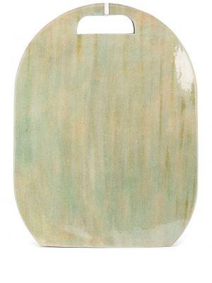 Кожаная зеленая сумка на плечо на молнии Cecchi De Rossi