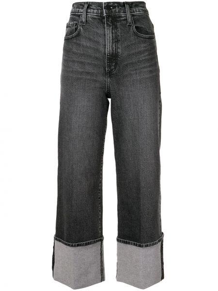 Черные широкие джинсы на пуговицах с поясом свободного кроя Nobody Denim
