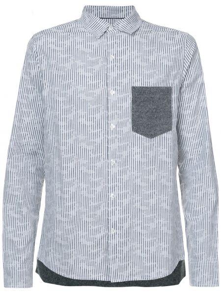 Шерстяная белая рубашка с карманами Private Stock