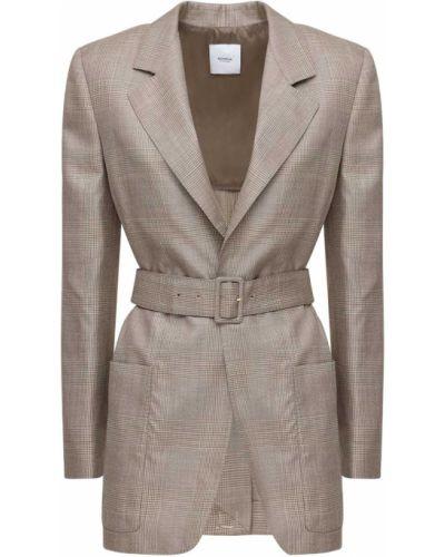 Шерстяная куртка с поясом с заплатками Agnona