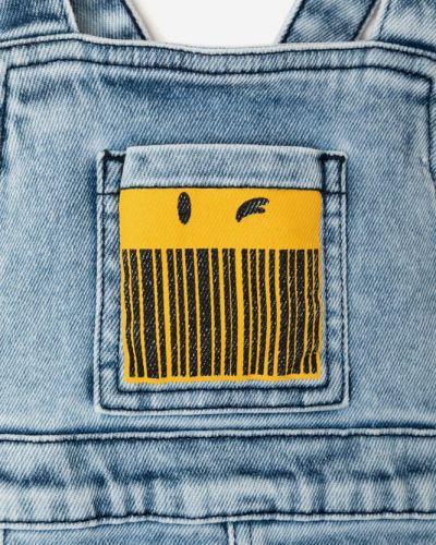 Синий джинсовый комбинезон на бретелях эластичный Gloria Jeans
