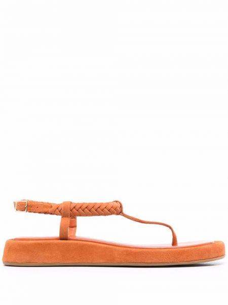 Кожаные сандалии - оранжевые Gia Couture