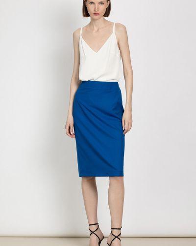 Синяя повседневная юбка из вискозы Vassa&co