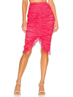 Асимметричная юбка - розовая Majorelle