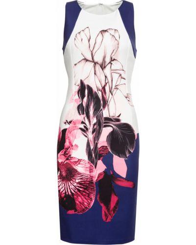 Платье футляр с цветочным принтом Bonprix