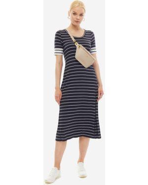 Платье макси в полоску из вискозы Marc O`polo