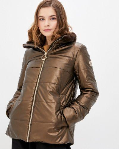 Коричневая кожаная куртка Madzerini