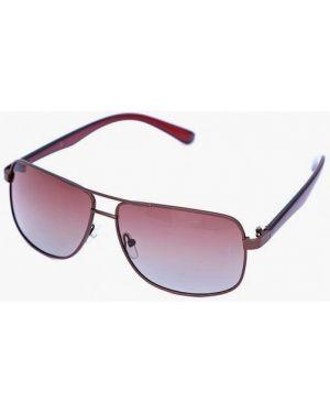 Коричневые солнцезащитные очки квадратные с завязками Luckylook