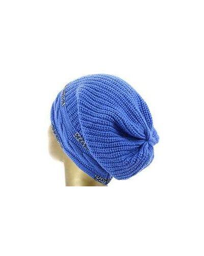 Синяя шапка кашемировая регина