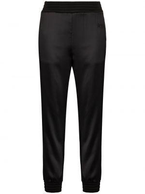 Czarne satynowe spodnie Rta