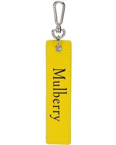 Брелок с принтом с логотипом Mulberry