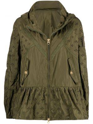 Зеленая куртка с капюшоном на молнии Ermanno Ermanno