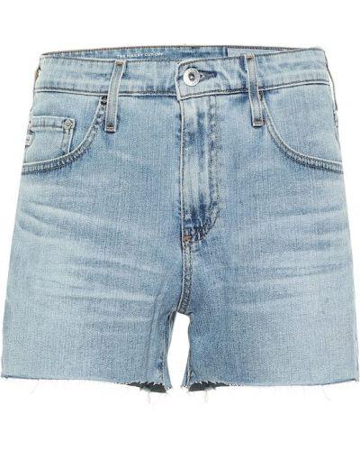 Хлопковые синие джинсовые шорты винтажные Ag Jeans