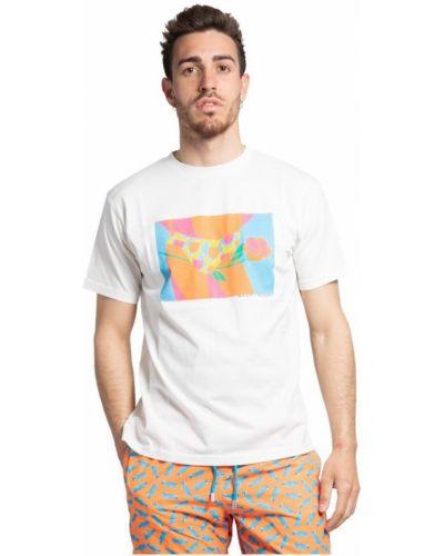 Biały t-shirt Thinking Mu