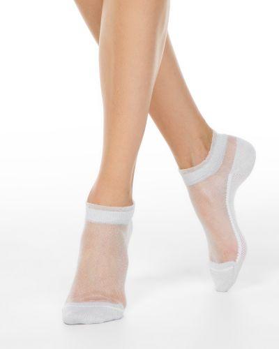 Хлопковые укороченные носки прозрачные Conte ⭐️
