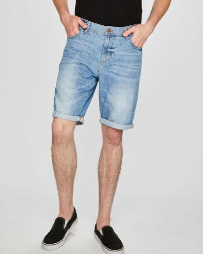 Джинсовые шорты прямые хлопковые Tom Tailor Denim